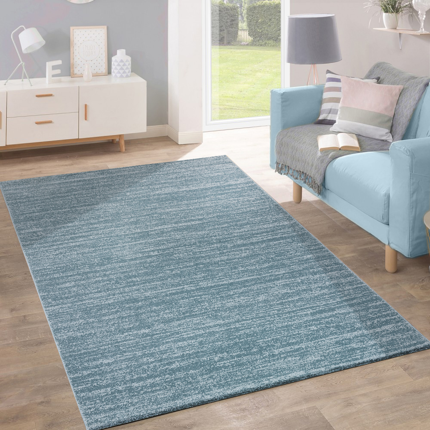 tapis poils ras moderne tendance tons pastel design chin inspiration turquoise tapis tapis poil ras. Black Bedroom Furniture Sets. Home Design Ideas