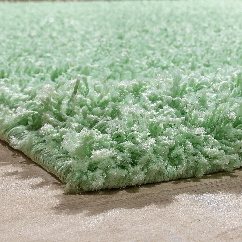 shaggy rug shaggy long pile high quality carpet uni in mint green clearance ebay