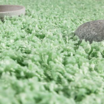 Shaggy Rug Deep pile long pile High Quality High thread density Mint Green SALE – Bild 3