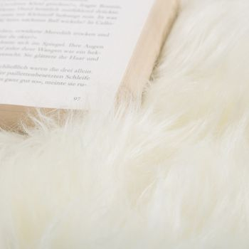 Alfombrilla Piel Natural Cordero Australiana Piel Oveja Auténtica Blanco Natural – Bild 2
