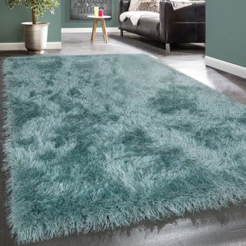 Shaggy Rug Glitter Turquoise