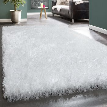 Shaggy Rug Glitter In White