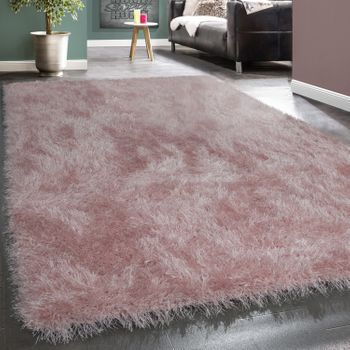Shaggy Tapis Strass Rose