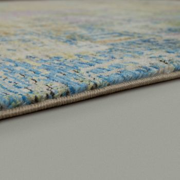 Designer Living Room Rug High Quality Modern Shabby Chic Pastel Colours Colourful – Bild 2