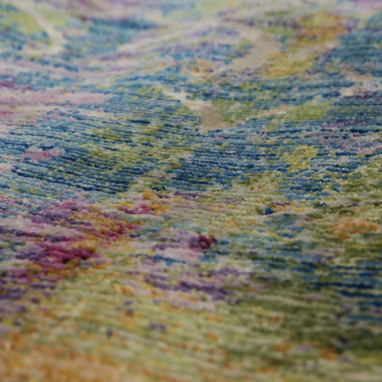 cr ateur salon tapis motif abstrait couleurs pastel haut. Black Bedroom Furniture Sets. Home Design Ideas