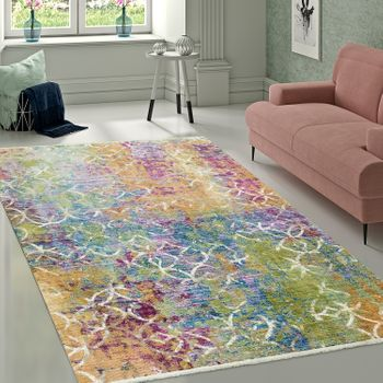 Designer Rug Abstract Pattern Multicoloured