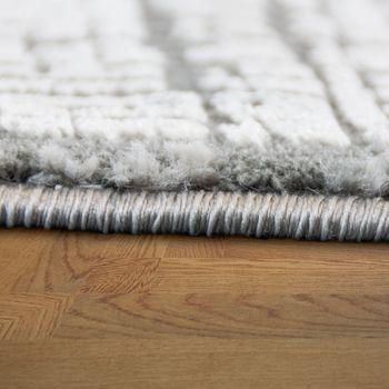 Designer Wohnzimmer Teppich Hoch Tief Struktur Modern Vintage Look In Grau  – Bild 2