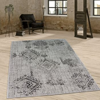 Indoor & Outdoor Rug Diamond Pattern Grey