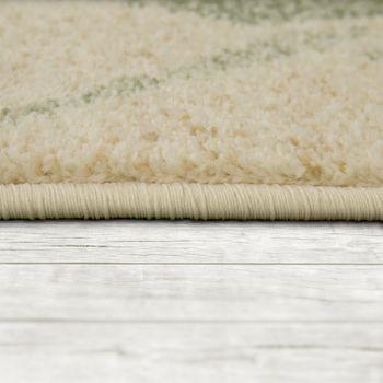 Designer Rug Living Room Short-Pile Modern Floral Pattern Pastel Yellow – Bild 2