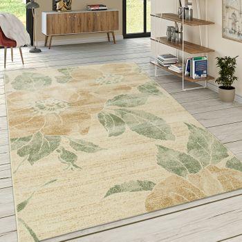 Designer Teppich Floral Gelb