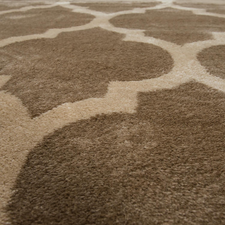 designer teppich marokkanisches muster kurzflorteppich modern trend beige braun teppiche orient. Black Bedroom Furniture Sets. Home Design Ideas