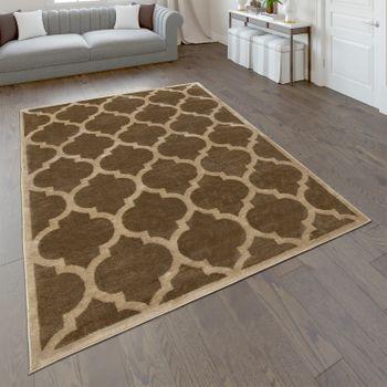Designer Rug Living Room Flat Woven Rug Modern Trend Rug In Brown Beige – Bild 1