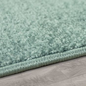 Modern Short-Pile Children's Rug Star Design Children's Room Pastel Turquoise White – Bild 2