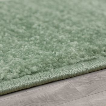 Modern Short-Pile Children's Rug Star Design Children's Room Pastel Green White – Bild 2