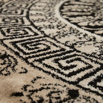 Designer Rug Short-Pile Living Room Mottled Geometric Shapes Pattern In Brown – Bild 3
