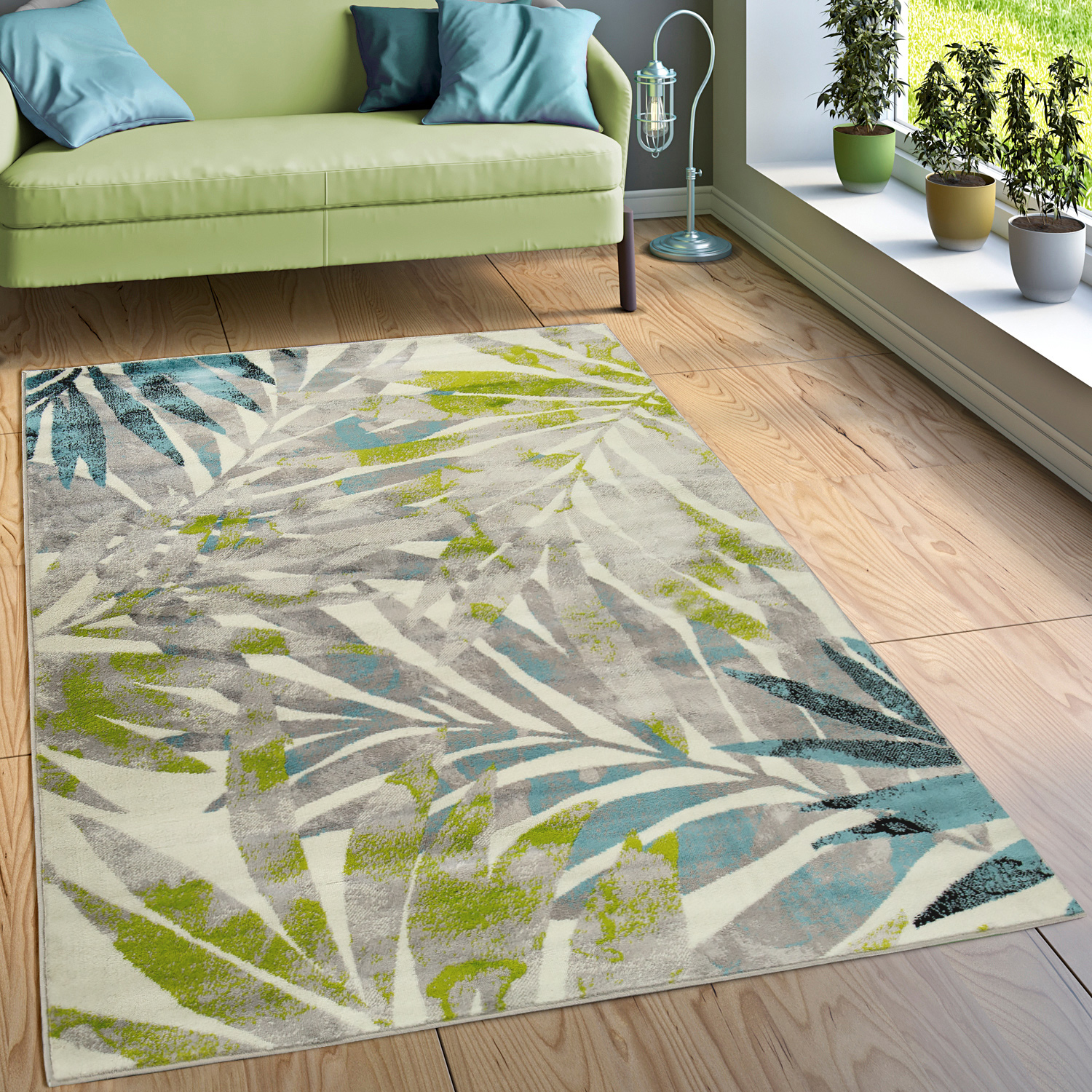 Designer Rug Living Room Unique Colour Combination Floral Multicolour