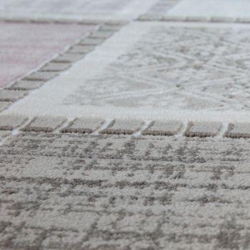 Modern Heatset Designer Rug Patchwork Pattern Pastel Grey Pink Blue Green – Bild 2