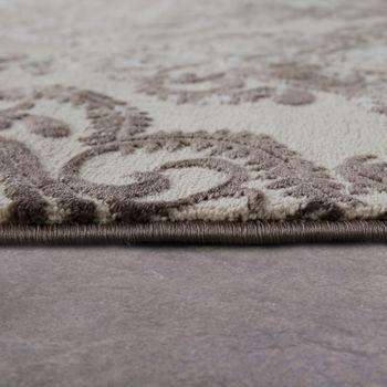 Designer Teppich Moderne Orient Muster 3D Wohnzimmerteppich Beige Creme – Bild 2