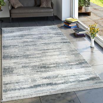 Trend Teppich Modern Bedruckt Grau