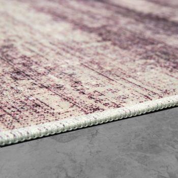 Designer Teppich Wohnzimmer Trend Teppiche Modern Meliert Bedruckt Lila – Bild 2