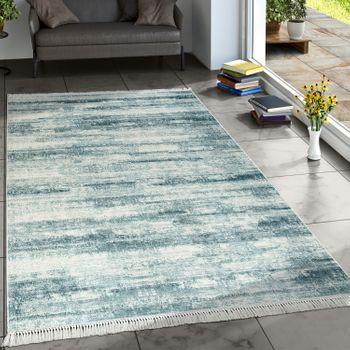 Designer Rug Living Room Trend Rugs Modern Mottled Printed Turquoise – Bild 1