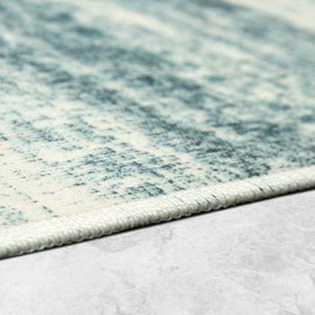 Designer Rug Living Room Trend Rugs Modern Mottled Printed Turquoise – Bild 2