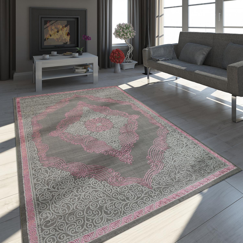 Teppich Orient Look 3 D Effekt Ornamente Grau Teppich De
