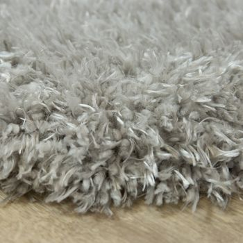 Fur Rug Faux Fur Imitation Flokati Style Long Pile Rug Living Room Grey – Bild 2