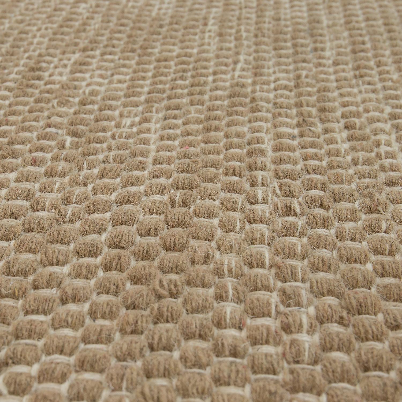 Flat Woven Wool Rug In Trend Design Beige Cream Rug24