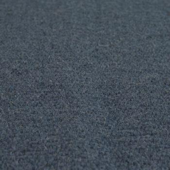 Skandi Look Fransen Wollteppich Einfarbig In Blau – Bild 3