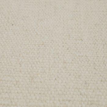 Skandi Look Fransen Wollteppich Einfarbig In Creme – Bild 3