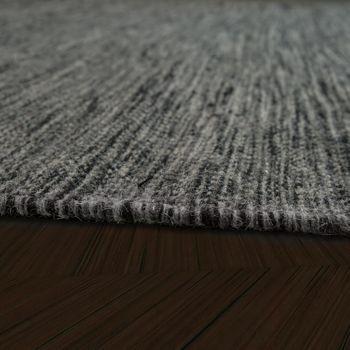 Scandi Look Wool Rug Plain Mottled In Anthracite – Bild 2