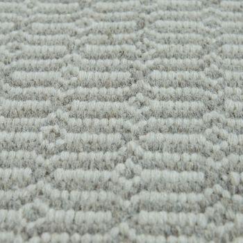 Wool Rug With Nordic Look Pattern In Beige – Bild 3