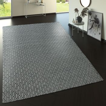 Wool Rug With Nordic Look Pattern In Grey