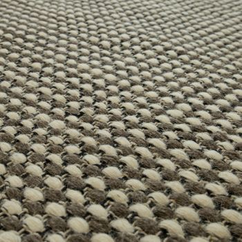 Scandi Look Wool Rug With Woven Pattern In Grey – Bild 3