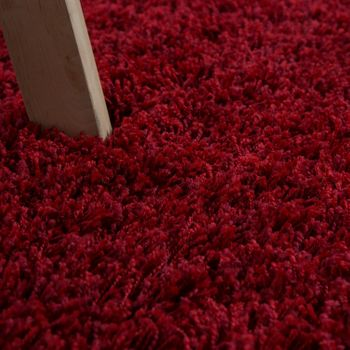Deep Pile Shaggy Rug Cuddly Soft Long Pile Modern Plain Colours In Red – Bild 3