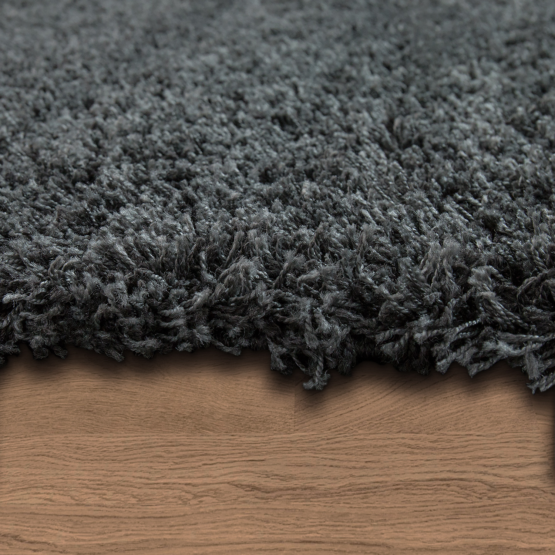 hochflor teppich kuschelig uni farben grau hochflor teppiche. Black Bedroom Furniture Sets. Home Design Ideas