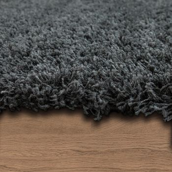 Deep Pile Shaggy Rug Cuddly Soft Long Pile Modern Plain Colours In Grey – Bild 2