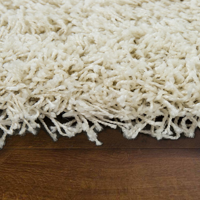 Alfombra shaggy de pelo largo mullida suave moderna color monocromo crema alfombras alfombras de - Alfombras shaggy pelo largo ...