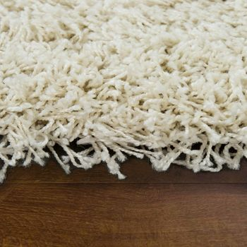 Deep Pile Shaggy Rug Cuddly Soft Long Pile Modern Plain Colours In Cream – Bild 2
