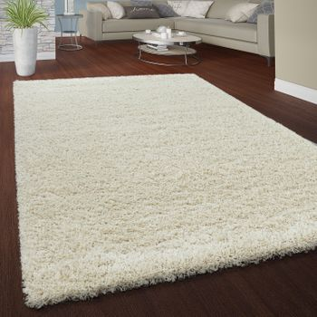 Deep Pile Shaggy Rug Cuddly Soft Long Pile Modern Plain Colours In Cream – Bild 1