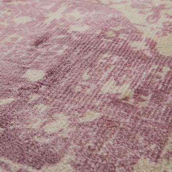 Vintage Teppich Ornamente Rosa Handgefertigt – Bild 3