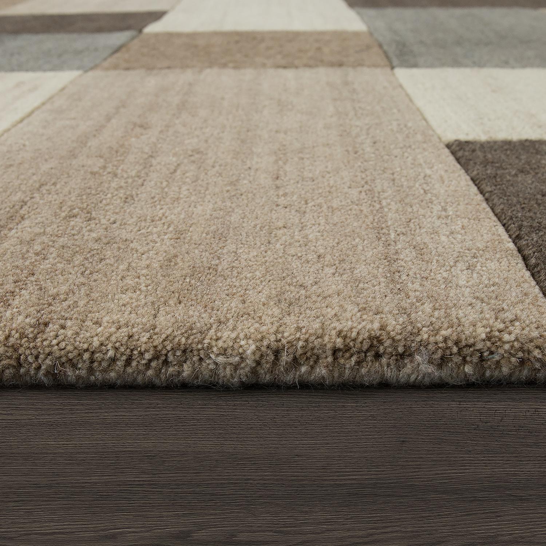 Natur teppich finest d effekt karo beige bild with natur teppich excellent multi stripe with - Linea natura teppich ...