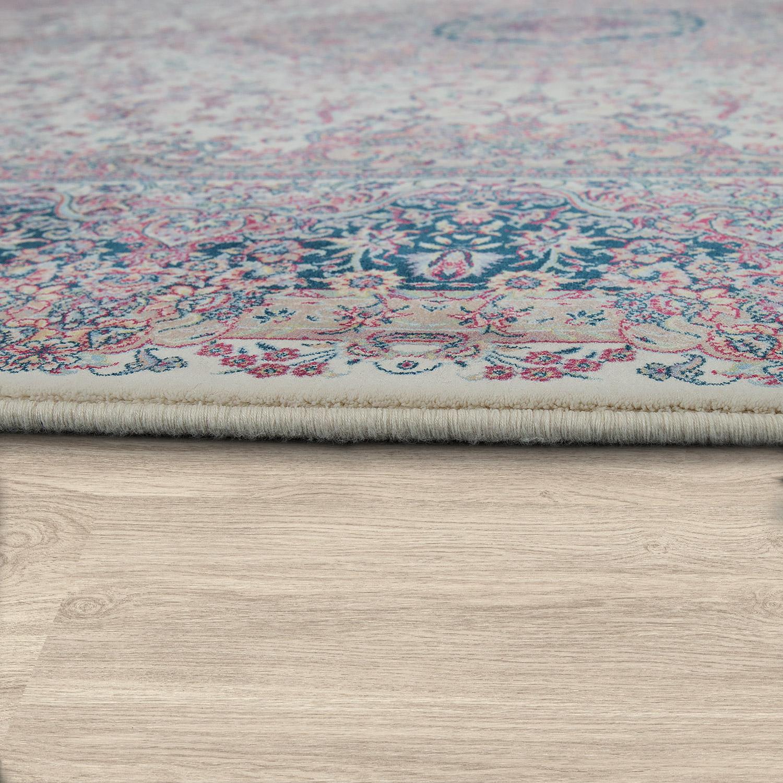 orientalischer acryl teppich ornamente braun multicolor teppiche orient optik. Black Bedroom Furniture Sets. Home Design Ideas