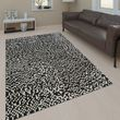 Leather Rug Mosaic Design Brown Handmade 001