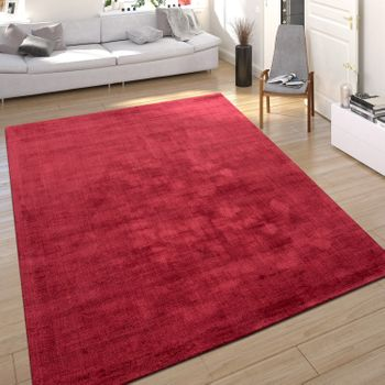 Rug Silky Look Red Handmade