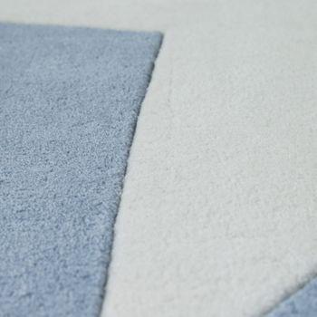 Polyacryl Teppich Sternmotiv Pastell Blau – Bild 3