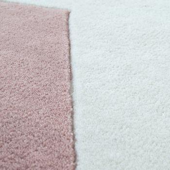 Polyacryl Teppich Sternmotiv Pastell Rosa – Bild 3