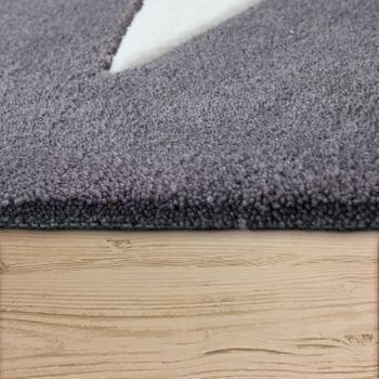 Polyacryl vloerkleed stermotief grijs – Bild 2