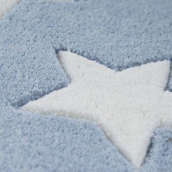 Acryl Teppich Sternenhimmel Pastell Blau – Bild 3